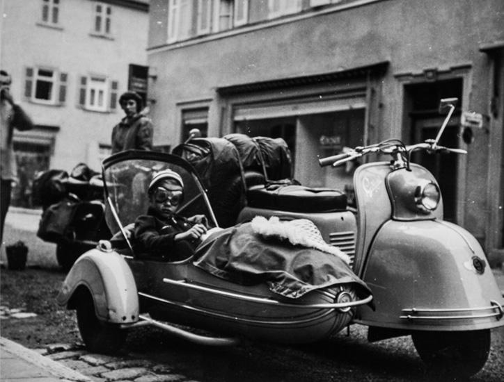 Eberhardstrasse 1955 Goggoroller Gespann
